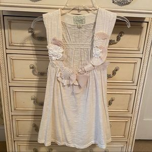 NEW Anthropologie Embroidered Sleeveless Cream Top
